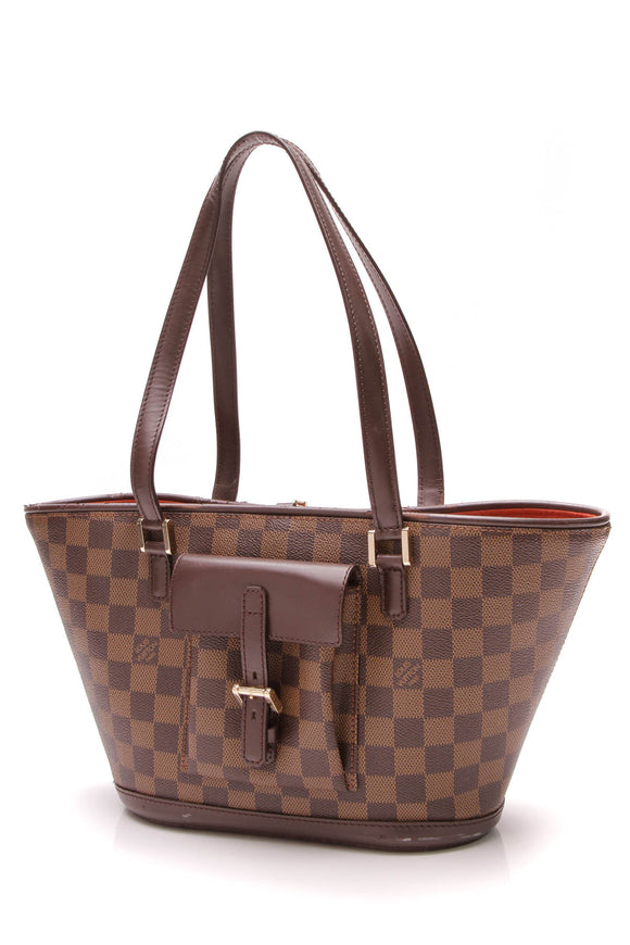Louis Vuitton Manosque PM Tote Bag Damier Ebene Brown