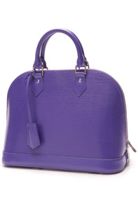 Louis Vuitton Epi Alma PM Bag Figue Purple