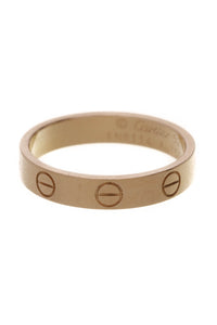 Cartier 3.5mm Love Band Ring Yellow Gold Size 6