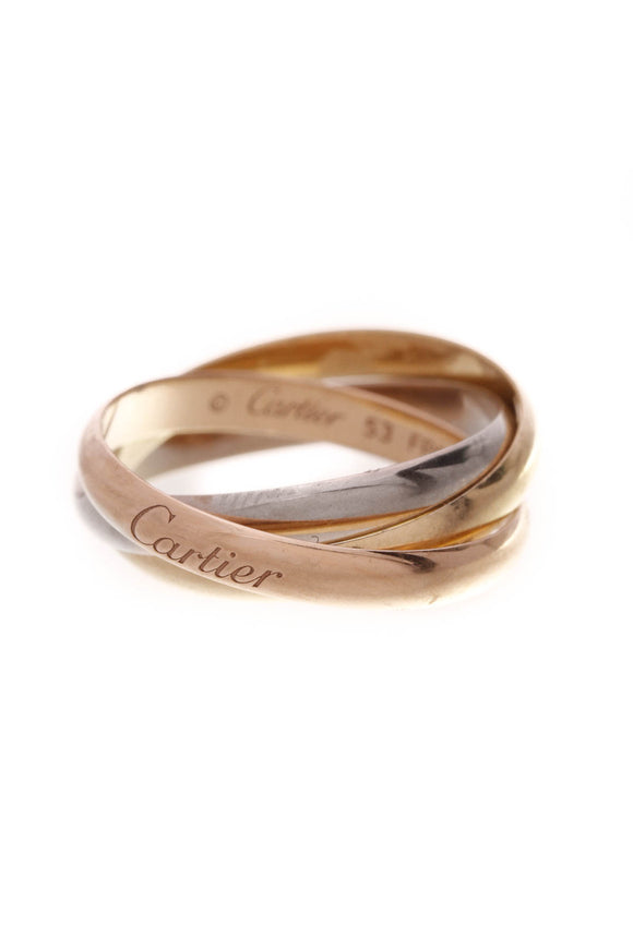 Cartier Trinity Small Ring Tri-Color Gold Size 6