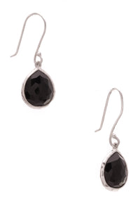 Ippolita Black Onyx Mini Rock Candy Teardrop Earrings Silver