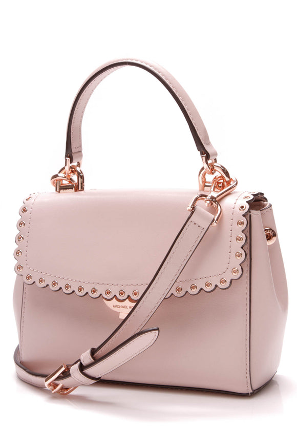 Michael Kors Ava Scalloped Crossbody Bag Light Pink