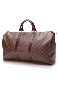 Louis Vuittton Keepall 50 Travel Bag Damier Ebene Brown