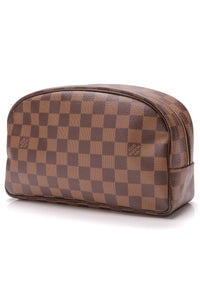 Louis Vuitton Toiletry 25 Bag Damier Ebene Brown