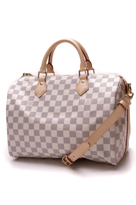 Louis Vuitton Speedy Bandouliere 30 Bag Damier Azur