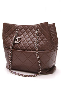 Chanel In The Business Tote Bag Brown Calfskin