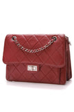 Chanel Paris-Bombay Reissue Accordion Flap Bag Dark Red Calfskin