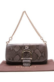 Gucci Python Greenwich Evening Clutch Bag Gray