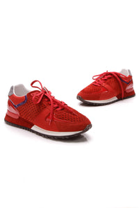Louis Vuitton Run Away Sneakers Rouge Size 39.5 Red