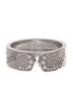 Cartier Diamond C de Cartier Ring White Gold Size 5.75