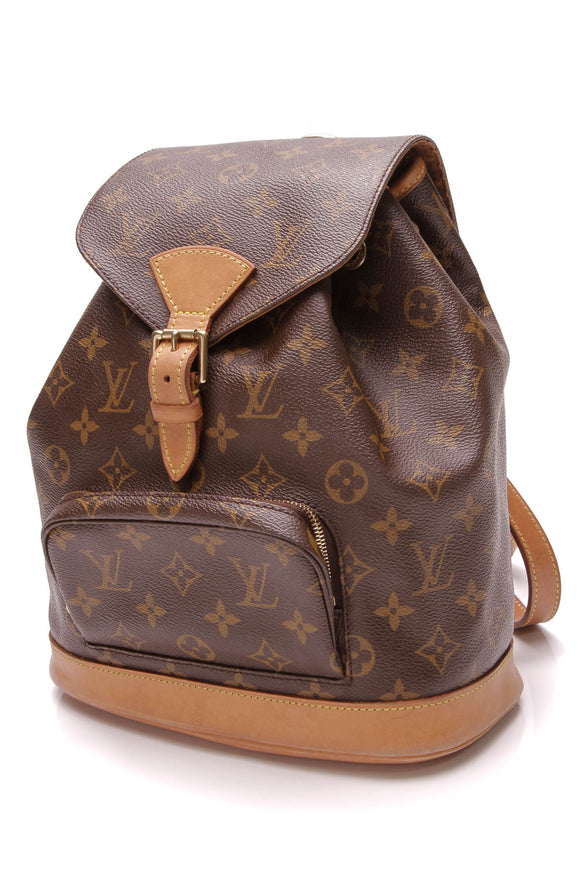 Louis Vuitton Vintage Montsouris MM Backpack Monogram Brown