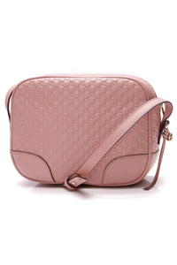 Gucci Bree Mini Messenger Bag Pink Microguccissima