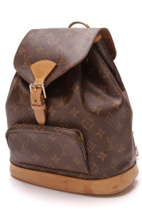 Louis Vuitton Montsouris MM Backpack Monogram Brown