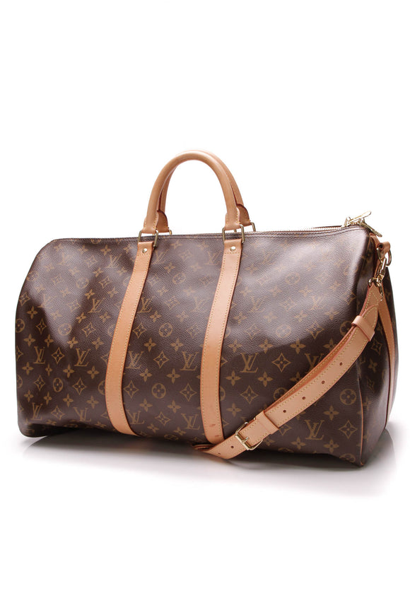 Louis Vuitton Keepall Bandouliere 50 Travel bag Monogram Brown