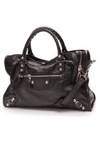 Balenciaga Giant 12 City Bag Black Lambskin