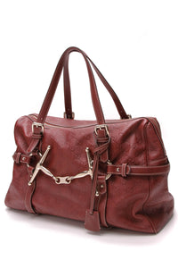 Gucci 85th Anniversary Large Boston Bag Rusty Red Guccissima