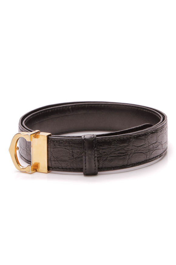 Cartier Reversible Belt Black Crocodile