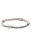 John Hardy Diamond Four Station Classic Chain Bracelet Silver