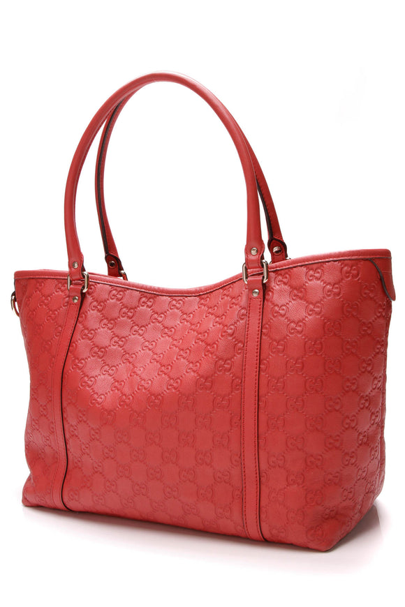 Gucci Joy Large Tote Bag Red Guccissima