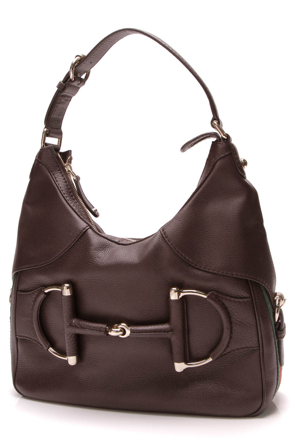 Gucci Heritage Horsebit Hobo Bag Brown