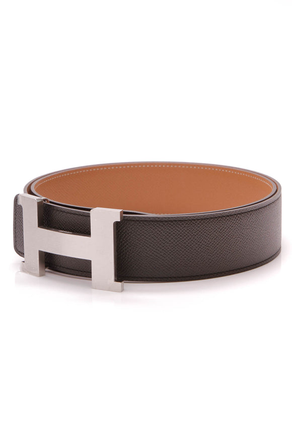 Hermes 42mm Constance H Reversible Belt Black Gold Epsom