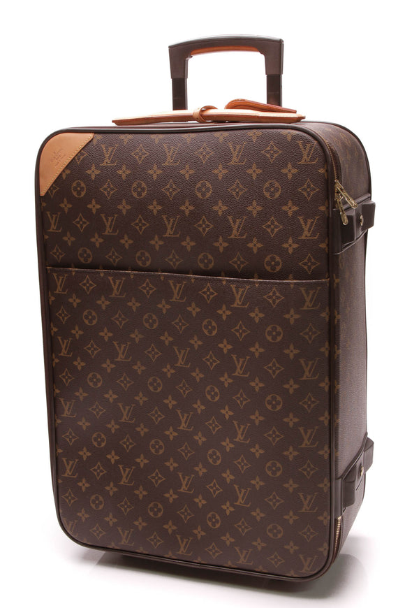 Louis Vuitton Pegase 60 Rolling Luggage Monogram Brown