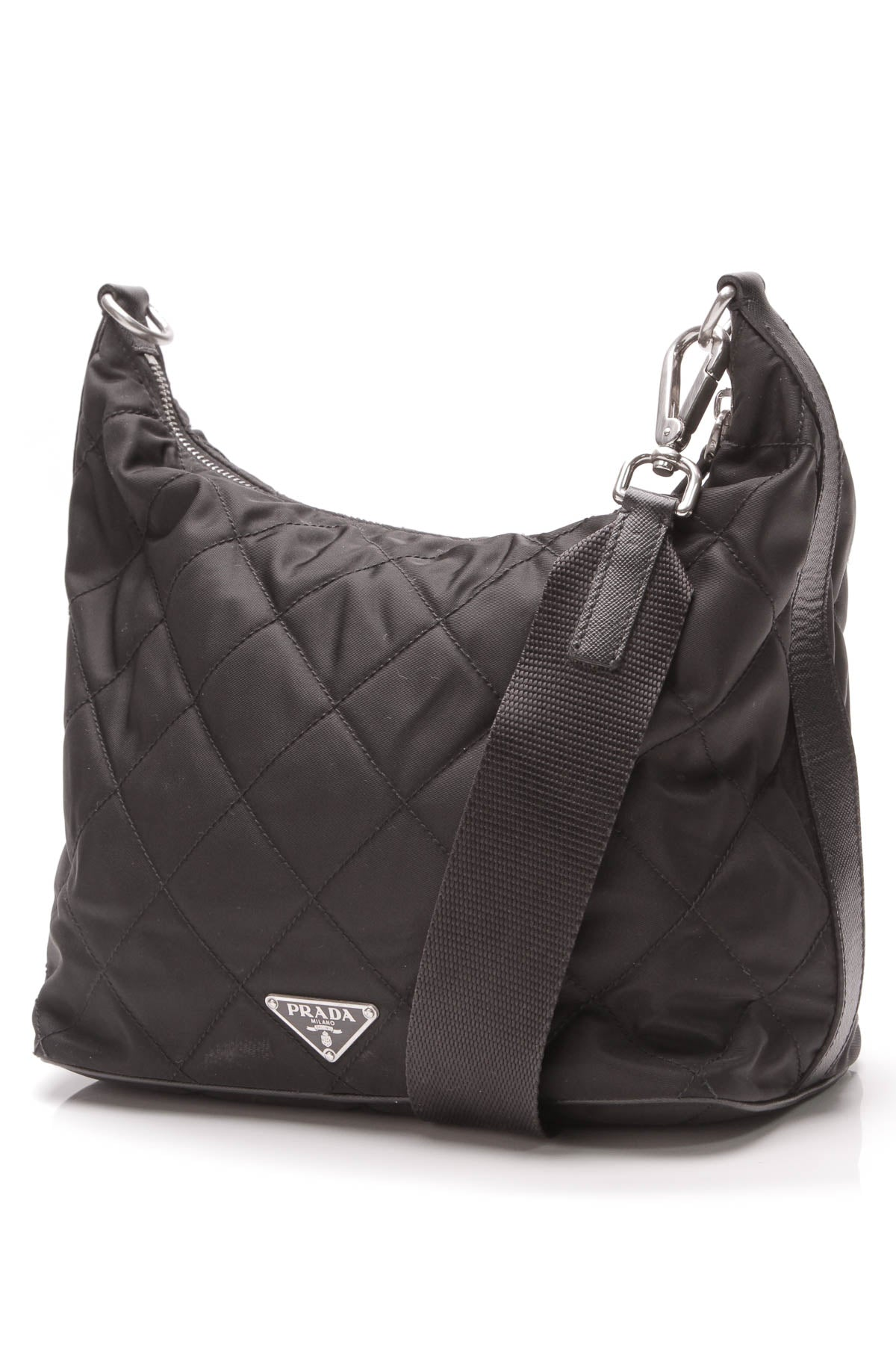 2bf4ad3c Prada Quilted Shoulder Bag - Black Nylon – Couture USA