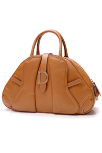 Christian Dior Saddle Bowler Bag Cognac