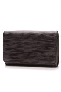 Louis Vuitton Vintage Epi Tresor Wallet Black