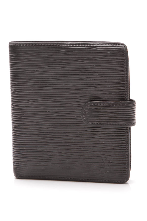 Louis Vuitton Epi Porte-Billets Compact Wallet Black