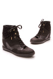 Louis Vuitton Cliff Top Sneaker Wedges Black Size 38