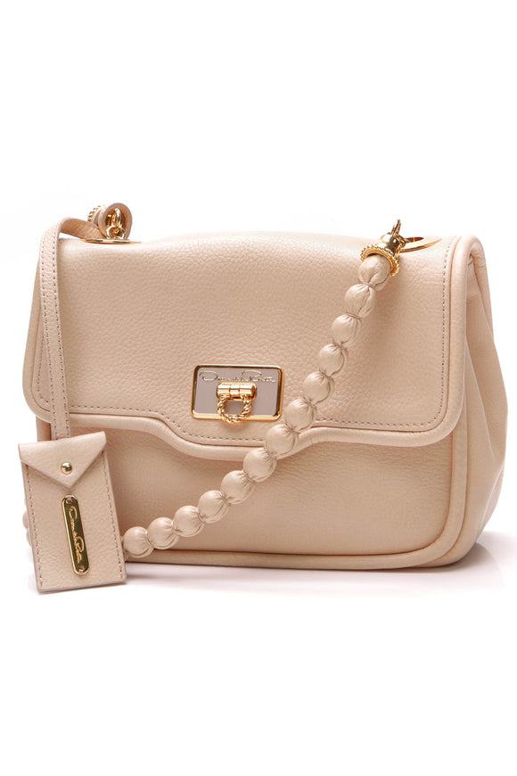 Oscar de la Renta Lipp Evening Bag Beige