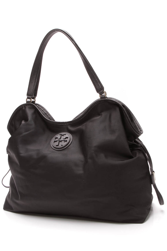 Tory Burch Scout Tote Bag Black Nylon