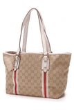 Gucci Jolicoeur Small Tote Bag GG Canvas Beige White