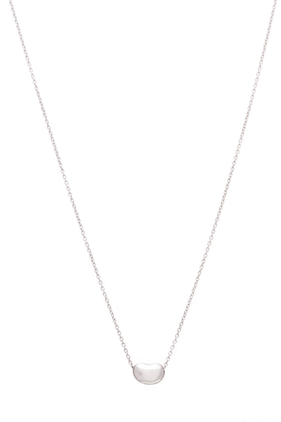 Tiffany & Co. Elsa Peretti Small Bean Pendant Necklace Silver