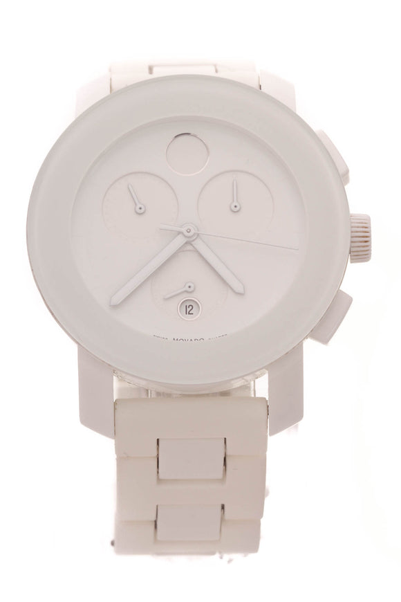 Movado BOLD Chronograph Watch White Composite Steel