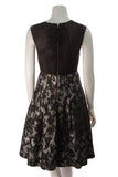 Tracy Reese Cross Pleat Frock Dress Black Silver Size 4