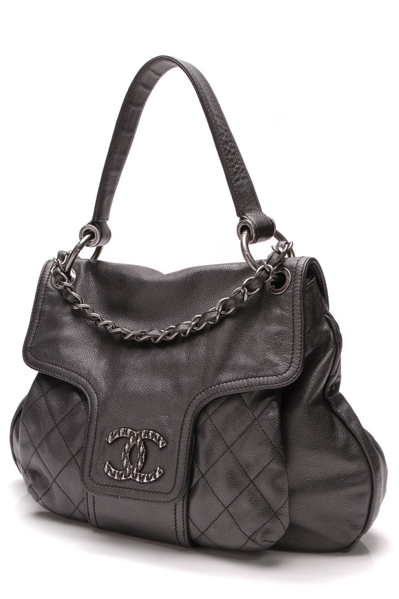 Chanel Coco Rider Hobo Bag Black Caviar