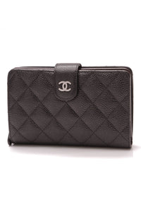 Chanel French Purse Wallet Black Caviar
