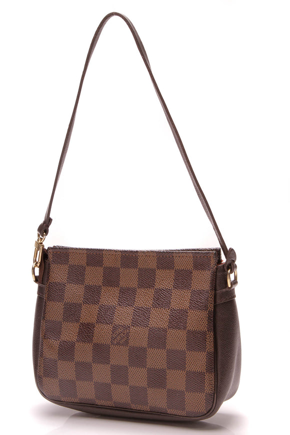 Louis Vuitton Trousse Pochette Bag Damier Ebene Brown
