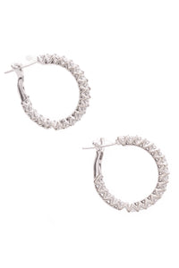 Diamond Hoop Earrings White Gold