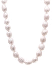 Diamond Pearl Collar Necklace 18K White Gold