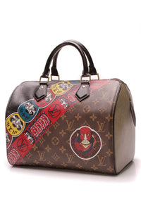 Louis Vuitton Kabuki Speedy 30 Bag Monogram Pepper Epi Brown Green