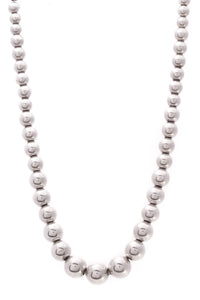 Tiffany & Co. Hardwear Graduated Ball Necklace Silver