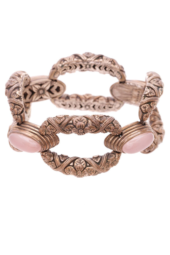 stephen-dweck-bronze-rose-quartz-bracelet