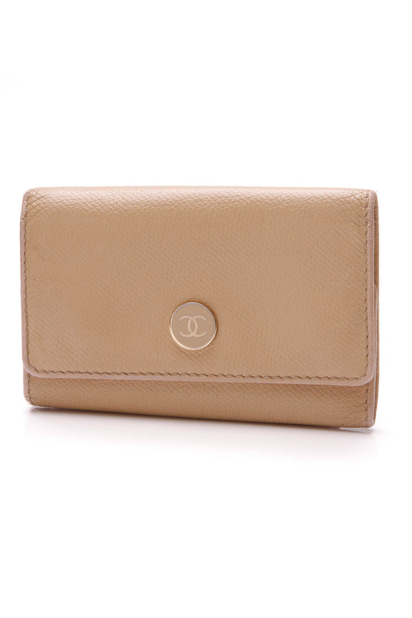 Chanel Key Card Holder Beige