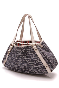 Gucci Rope Print Medium Abbey Tote Bag Navy Ivory