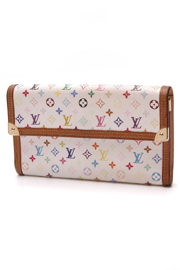 Louis Vuitton Porte-Tresor International Wallet White Multicolore Monogram