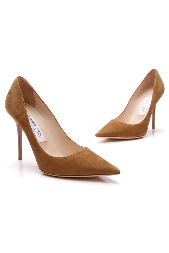 Jimmy Choo Love 100mm Pumps Camel Suede Size 38