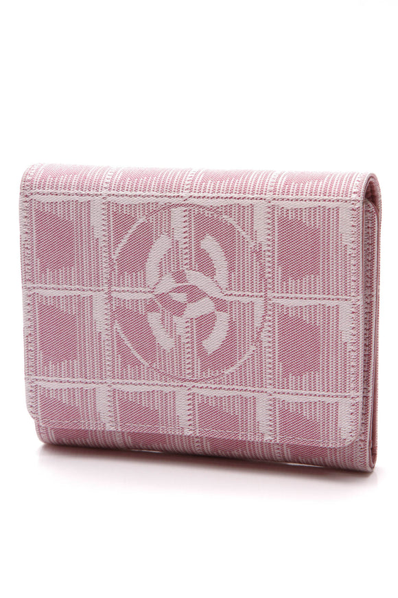 Chanel Travel Ligne Compact Wallet Pink